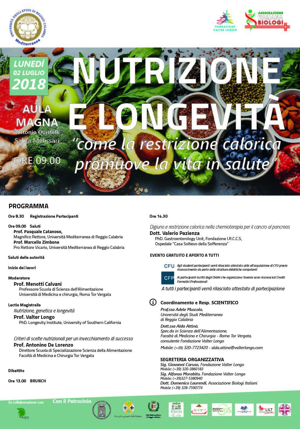 Nutrizione e Longevita